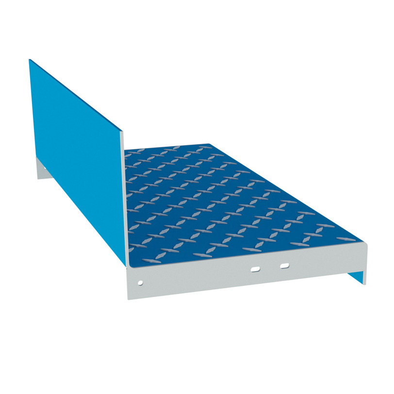 Diamond Plate Stair Tread Type 25 with Carrier, Eberl Stair Components & Systems