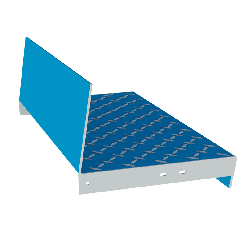 Diamond Plate Stair Tread Type 26 with Carrier, Eberl Stair Components & Systems